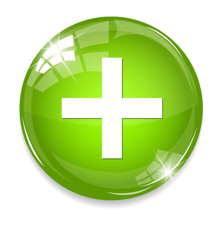 web button with add sign Vector