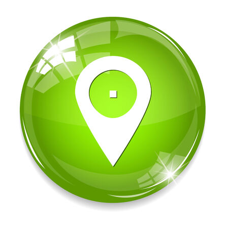 satined: mapping pin icon Illustration