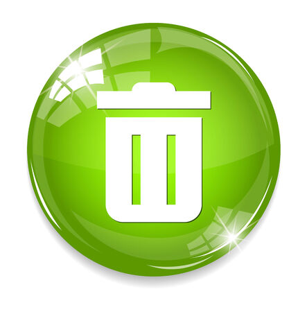 refuse: Trash can icon