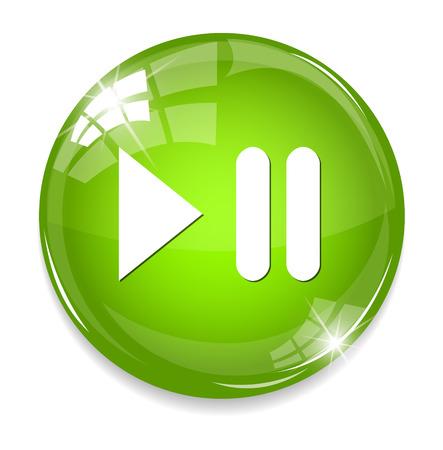 メディア プレーヤーのボタン