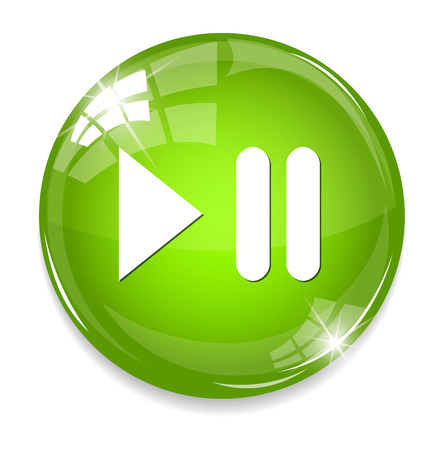 Media player button Illusztráció