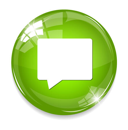 instant message: Talk bubble icon Illustration