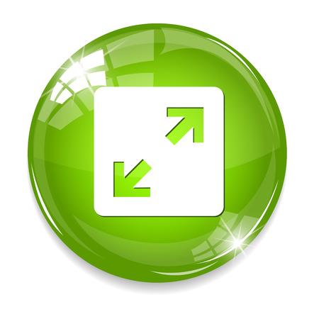 satin round: Arrow button