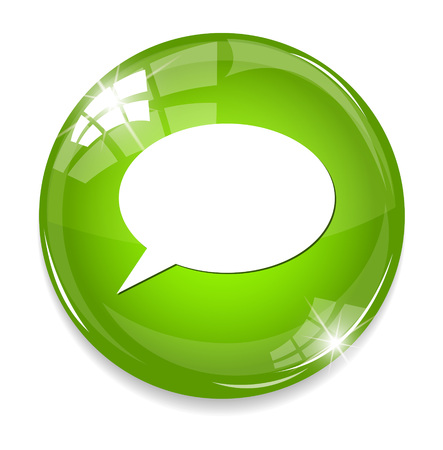 chatting icon  button Vector