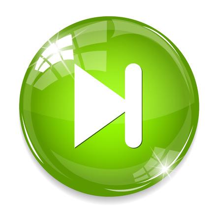 next  circle glossy web icon on white background Illustration