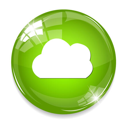 button with cloud icon Vector