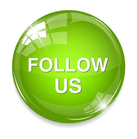 Social media or social network concept follow us button Vector