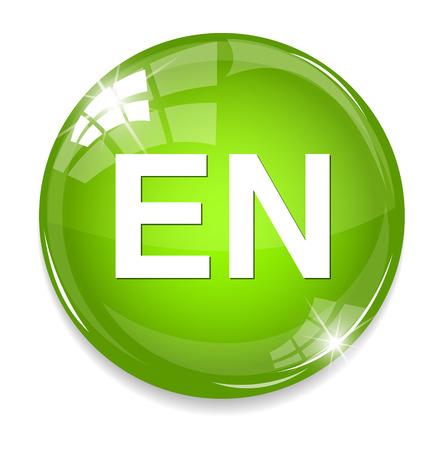 translation: English language sign icon. EN translation symbol