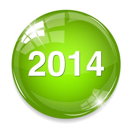 year 2014 icon Vector