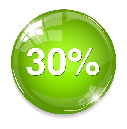 30 percent icon Illustration