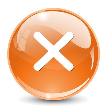cancel  icon, delete button Illustration
