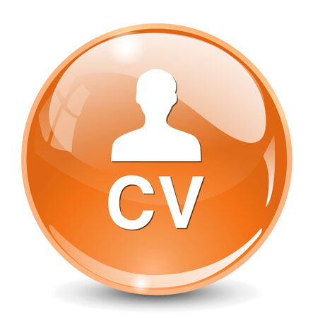 employ: CV  button Illustration