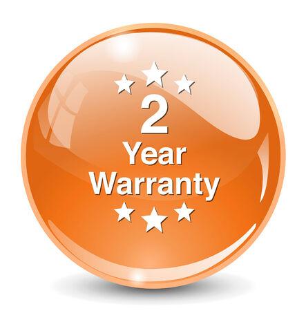 2 year warranty button Vector