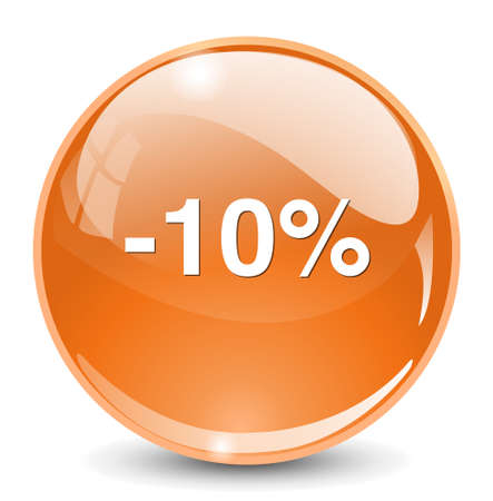 on off button: 10 percent off button Illustration
