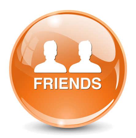 face book: icono de amigos
