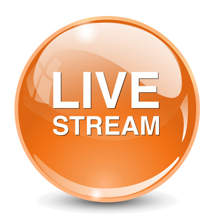 live stream sign: Livestream button Illustration
