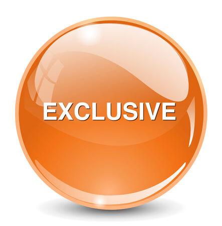 exclusive: exclusive button Illustration