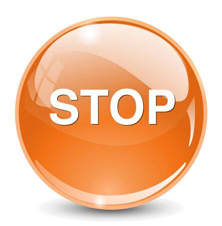 boton stop: el bot?n de paro Vectores