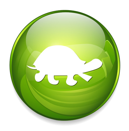 ancient turtles: turtle button Illustration
