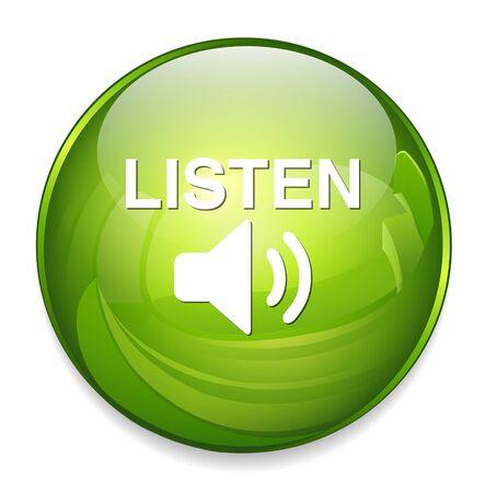 live stream listening: Listen button Illustration