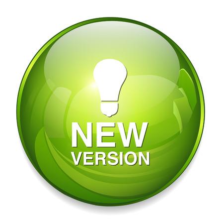 新しいバージョンのボタン  イラスト・ベクター素材