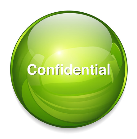 confidential   button Vector
