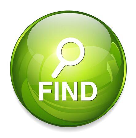 to find: find button Illustration