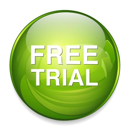 free trial: free trial icon Illustration