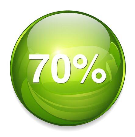 70: 70 percent icon