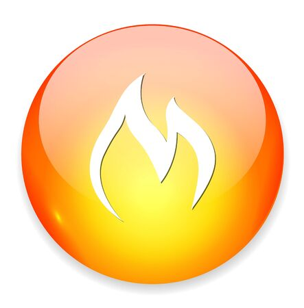 flames icon: Flames icon, fire button