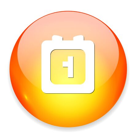 1 january: day one Calendar  icon