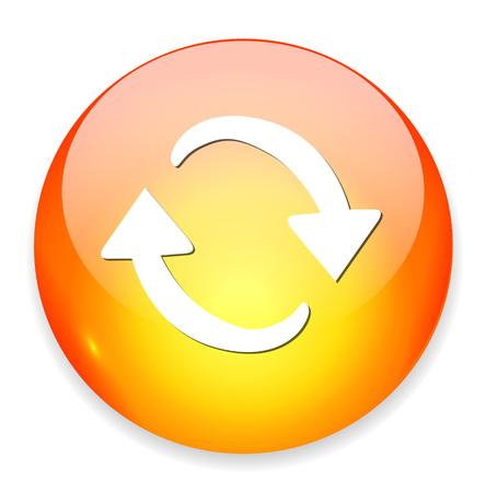 opfrissen: refresh icon Stock Illustratie