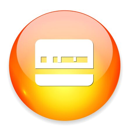 Identification Card icon Illustration