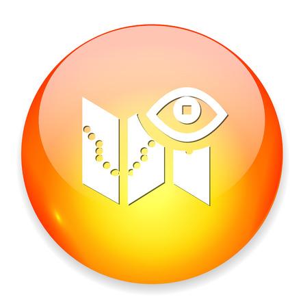 paper fastener: Documents search icon Illustration