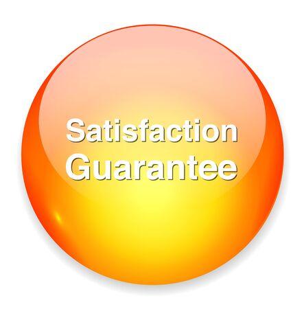 satisfaction guaranteed: Customer satisfaction guaranteed button Illustration