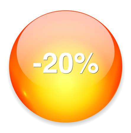 boton on off: 20 por ciento de descuento bot�n Vectores
