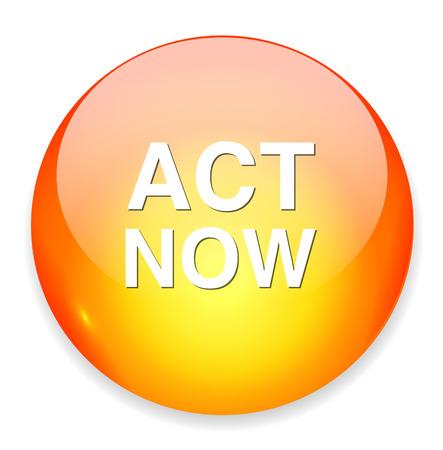 act now icon Vektoros illusztráció