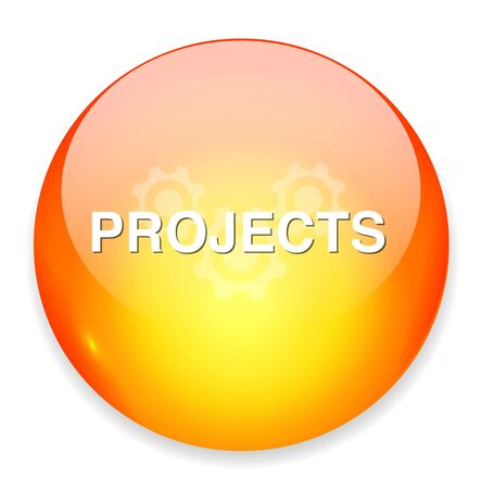 projects: Projects button