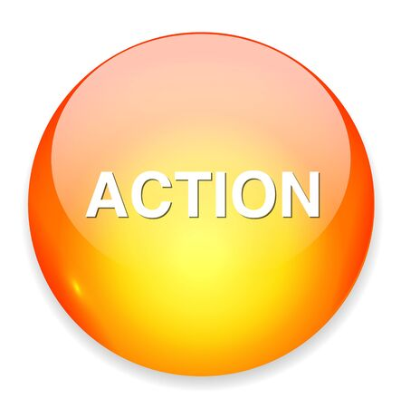 действие: Кнопка Действие Иллюстрация