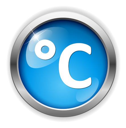 grado: tiempo icono de los grados Celsius