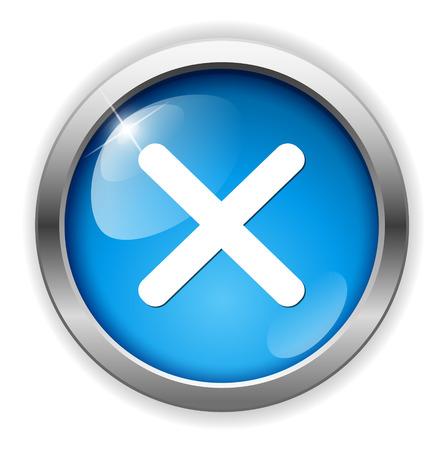 delete: cancel  icon, delete button Illustration