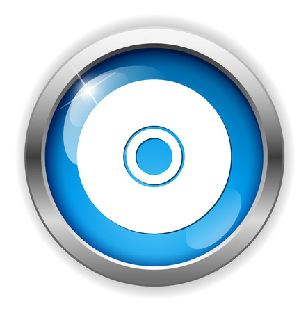 compact disk: Compact disk icon Illustration