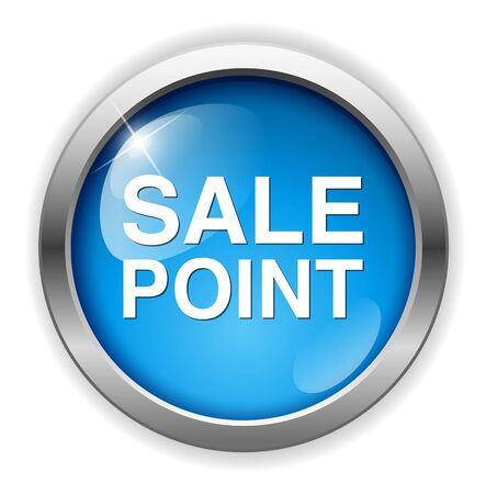 point of sale: Sale Point Button Illustration