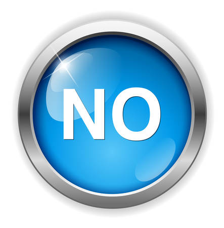 no: No buttons Illustration