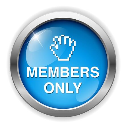 closed society: Members only button Illustration