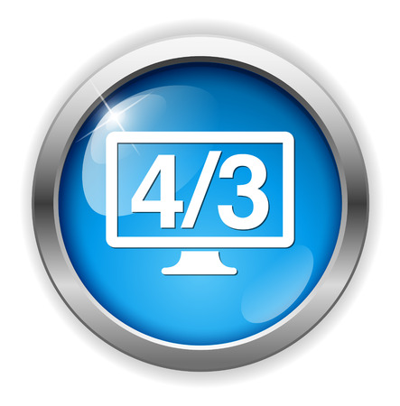 display: 4  3 display icon