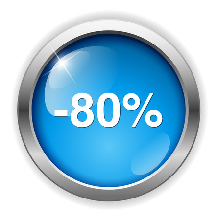 on off button: 80 percent off button