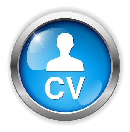 cv: CV  button Illustration