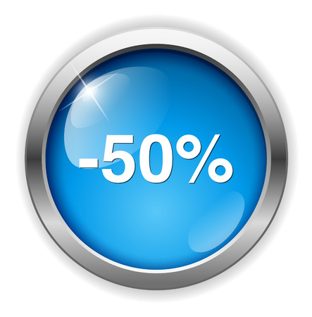 on off button: 50%  percent off  button