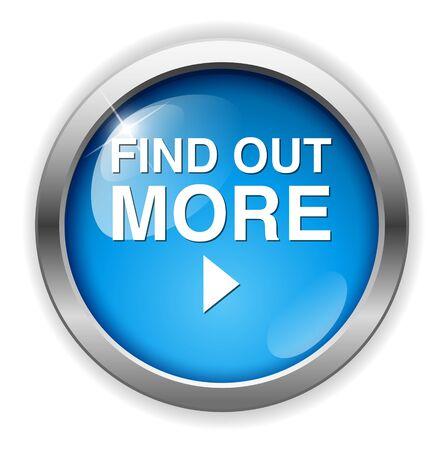 saber más botón Ilustración de vector